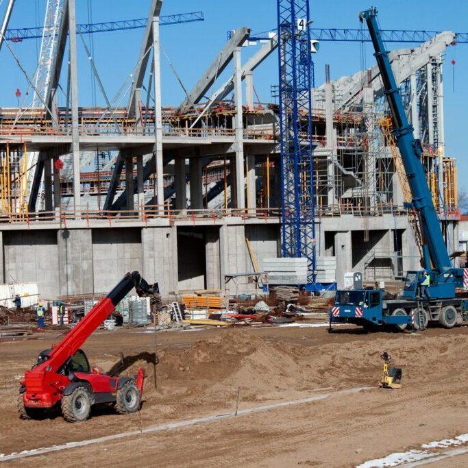 under building construction site